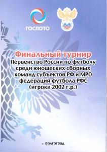 В Волгограде состоялся финальный турнир Первенства России по футболу среди юношеских сборных команд субъектов РФ и МРО федераций футбола РФС среди сборных команд 2002 г.р.